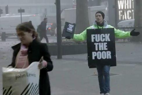 «Scheiss auf die Armen»-Aktion sorgt für Aufsehen