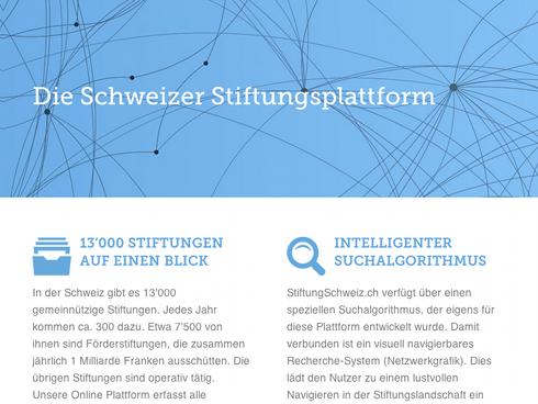 Schweizer Stiftungen auf einen Blick