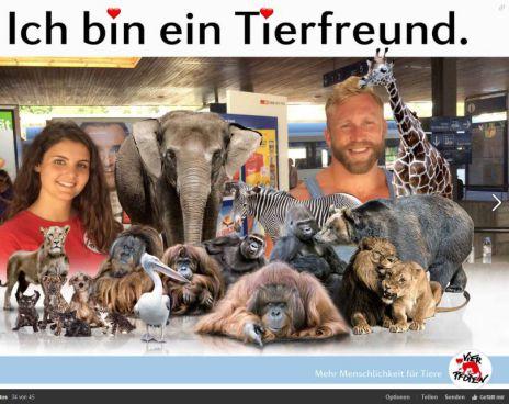 Spender-Fotos mit virtuellen Tieren